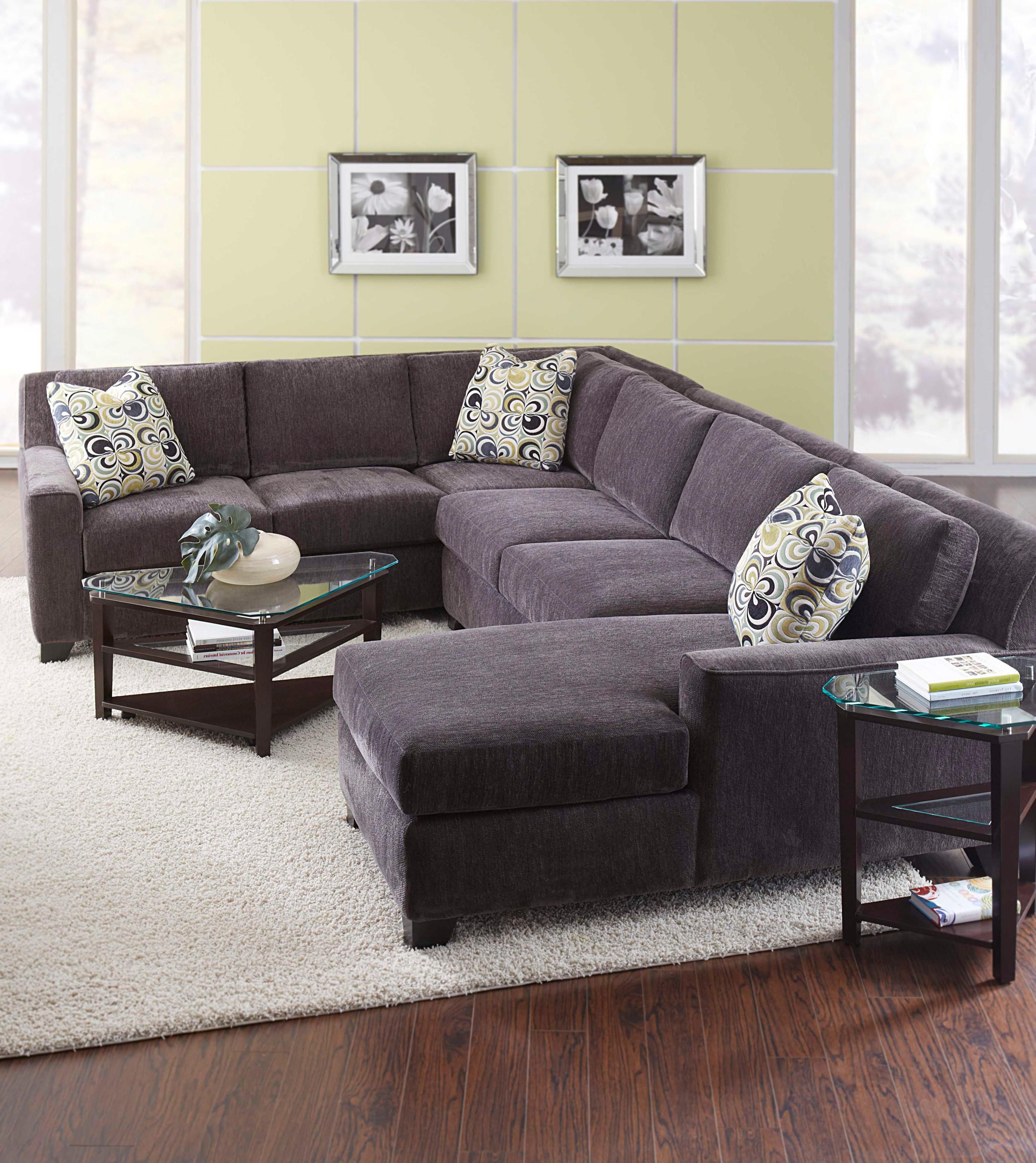 Milan Contemporary Four Piece Sectional Sofa With Laf Chaise By