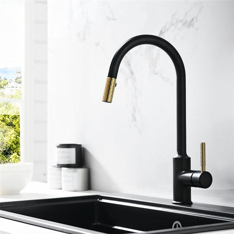 black kitchen sink