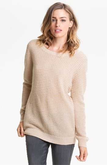 Hinge® Open Back Thermal Knit Sweater available at #Nordstrom $52