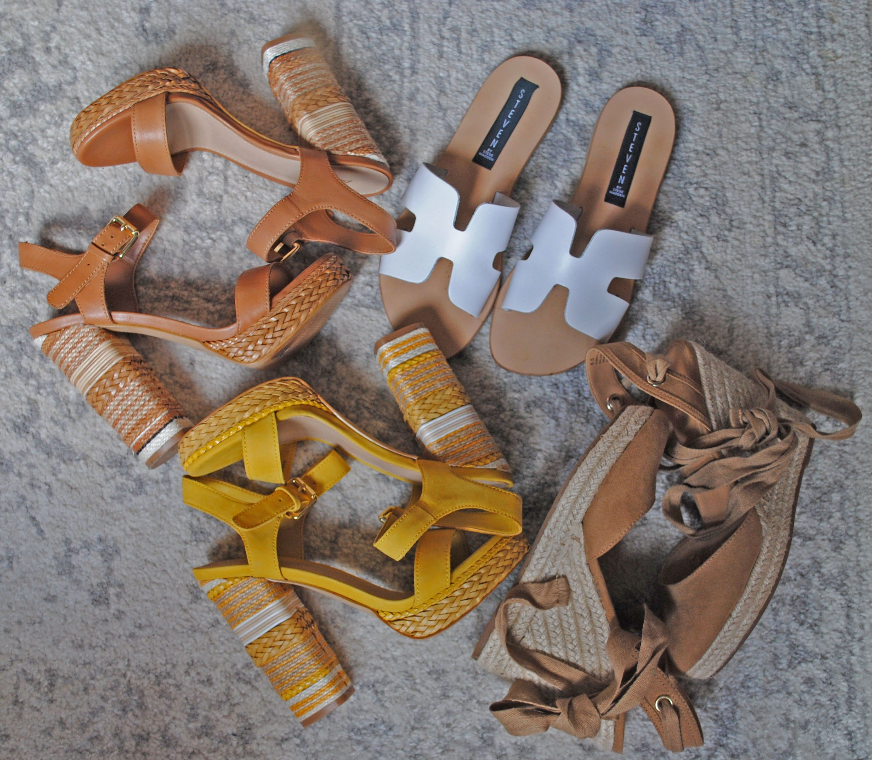 Shoes, Summer Sandals, Chunky Heels, Espadrilles Pop Of Color Shoes