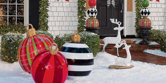 Your Porch Definitely Needs These Oversized Christmas Ornaments