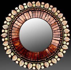 Molten Sage mosaic mirror from Zetamari