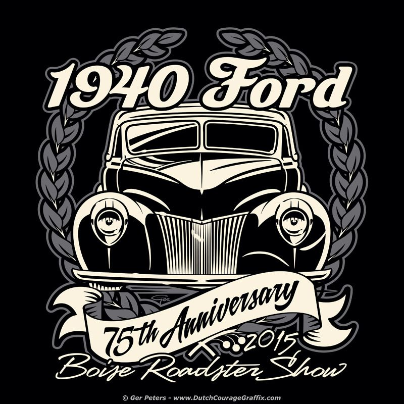 Boise Roadster Show 1940 Ford 75th Anniversary T-shirt