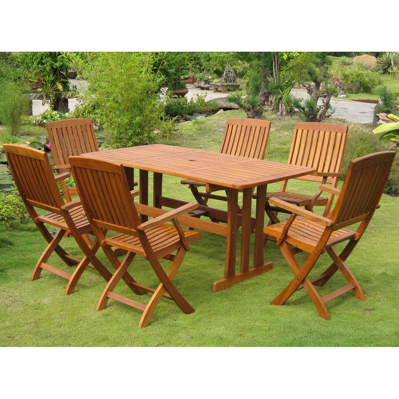 International caravan royal tahiti merida piece dining group