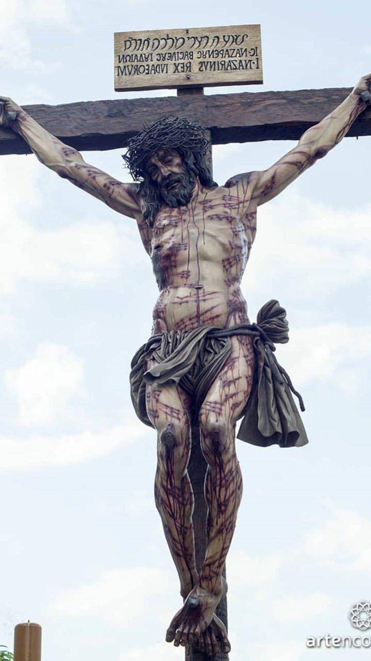 Santísimo Cristo De La Universidad Durante Su Procesión En La Semana Santa De Córdoba In 2020 Jesus Passion Crucifixion Of Jesus Jesus Christ Images