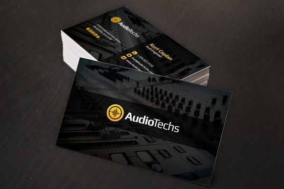 audio engineer business cards logo business card templates on creative market - Live Sound Engineer Sample Resume
