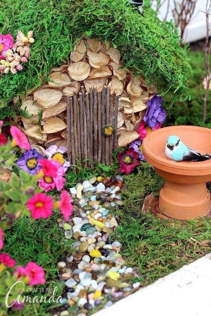 Fairy garden fairy house accessory Pinterest Hada, Jardines y