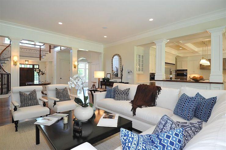decorating open floor plan | jillian klaff homes - living rooms
