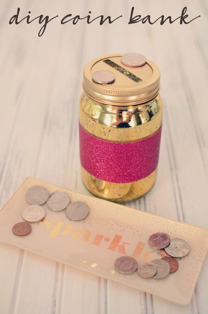 Make Saving Money Fun With This Sparkly Diy Coin Bank