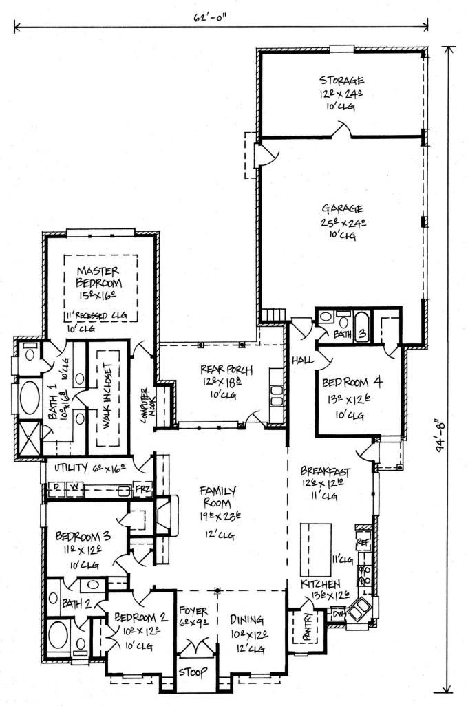 653529 French Country House Plan With Large Family Room House