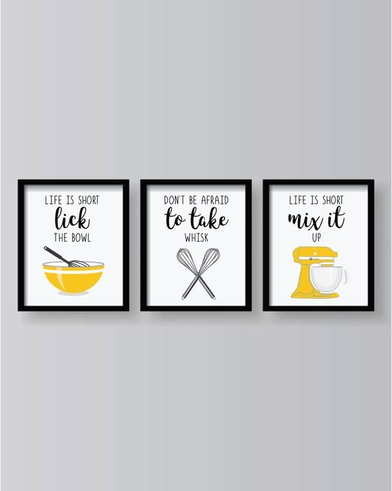 Yellow Kitchen Decor Prints, Dining Room Posters And Prints
