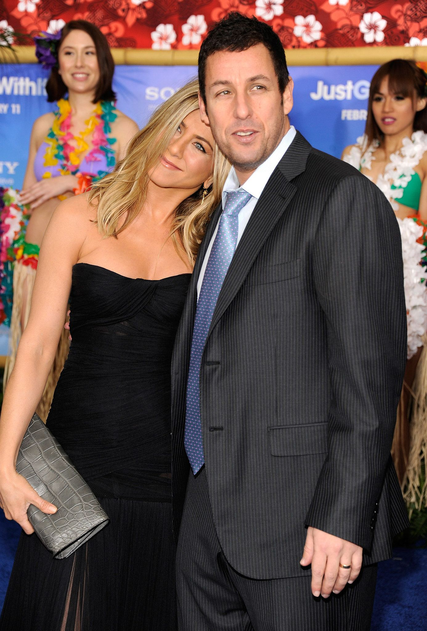 Jen shared a sweet moment with Adam Sandler at the NYC