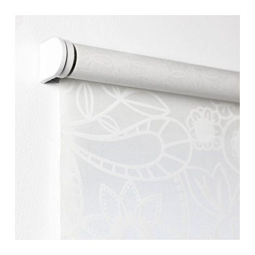Raffrollos Ikea skogsklöver roller blind white window sunroom and shear curtains