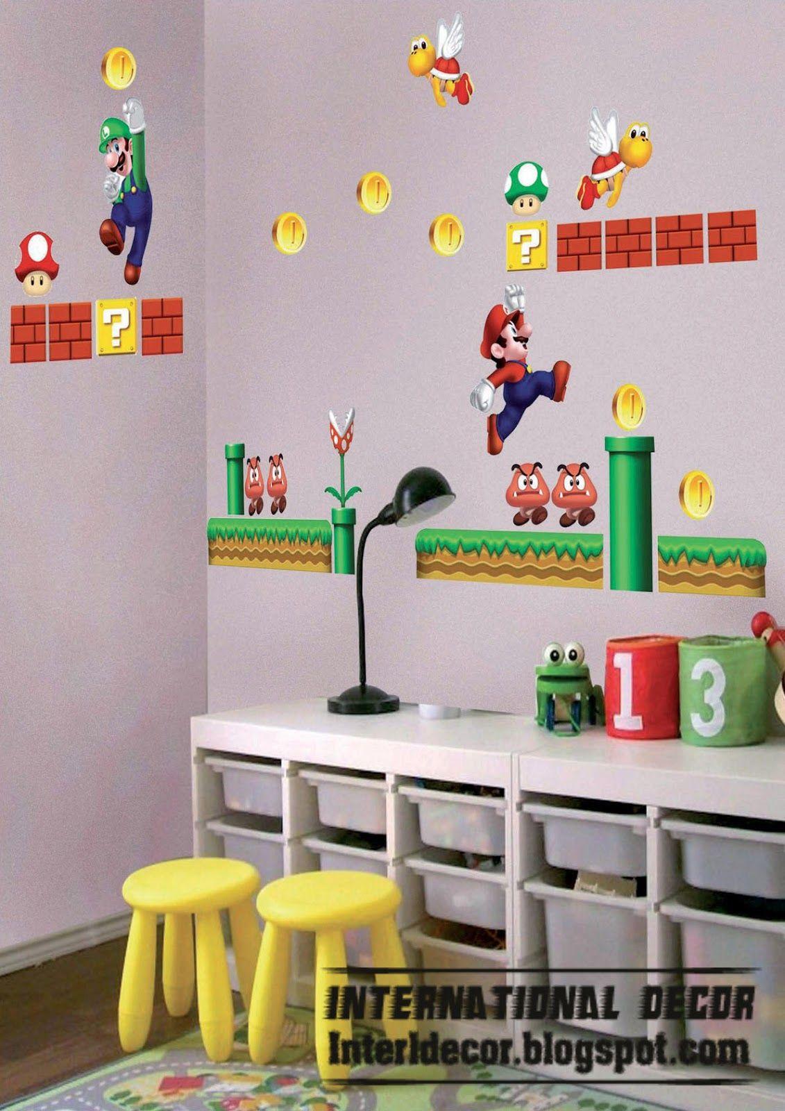 Mario Kids Room Design Wall Sticker Cool New Super Bros Stickers
