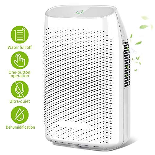 Photo of Honati Home Dehumidifier, 2000ml Ultra Quiet Small Portable Dehumidifiers with Auto Shut Off for Basement, Bedroom, Bathroom, Baby Room, RV and Office