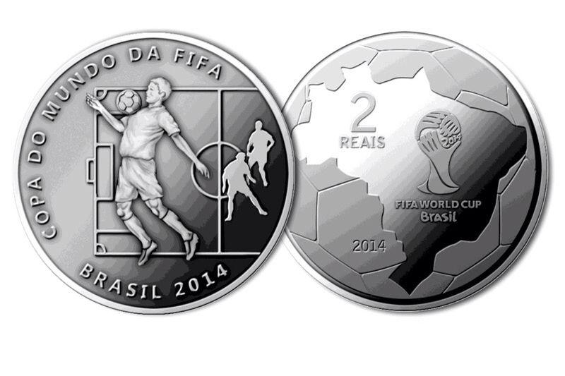 Moedas De 2 Reais Alusiva A Copa Do Mundo Da Fifa No Brasil 2014