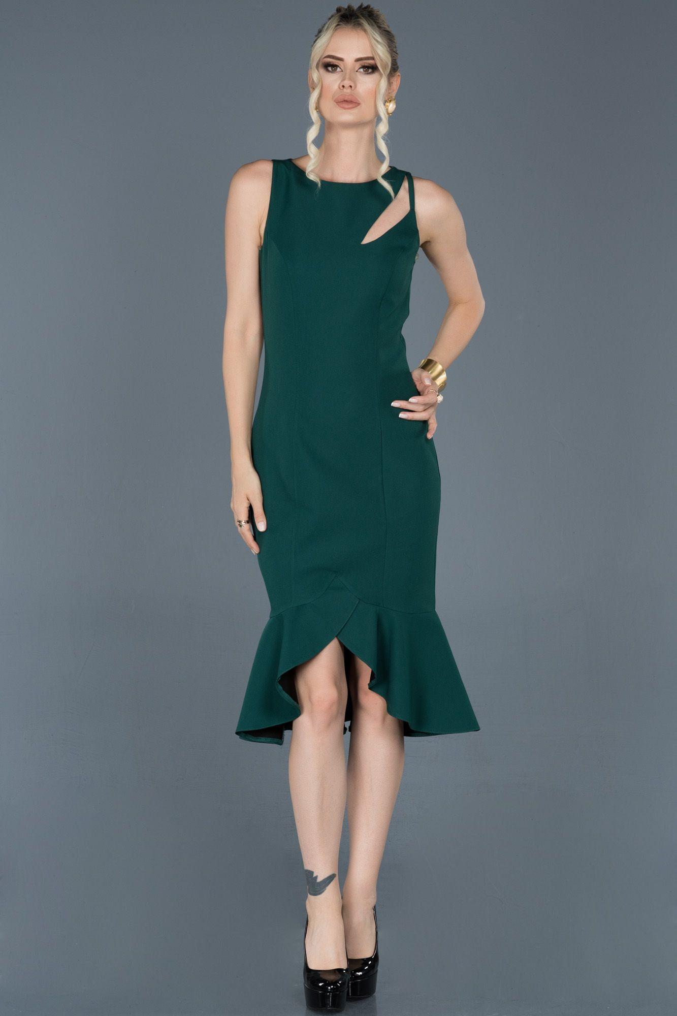 Zumrut Yesili Midi Davet Elbisesi Abk509 2020 Elbise Modelleri The Dress Elbise