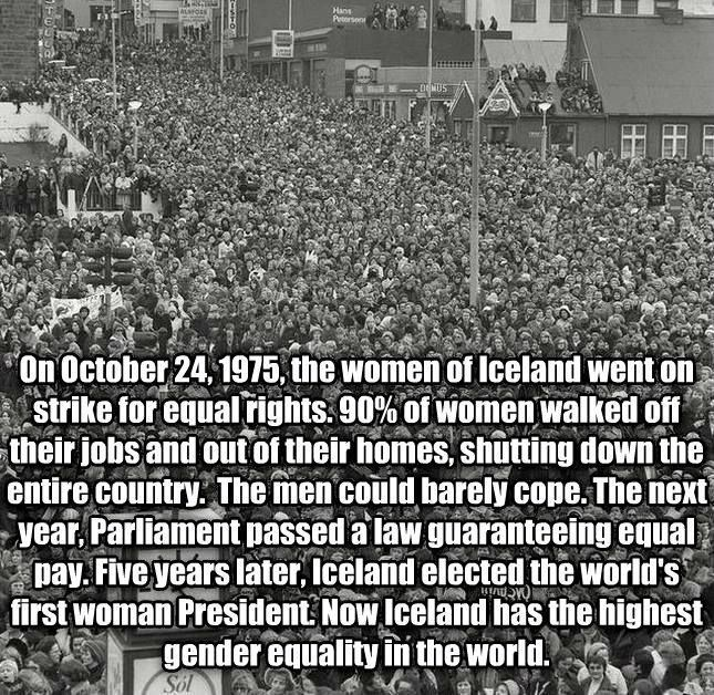 Photo of The day the women went on strike in Iceland