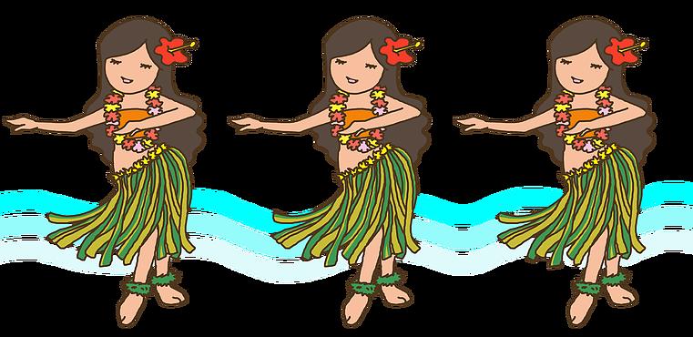 フラダンスイラストポップ女の子ハワイ My Illustration