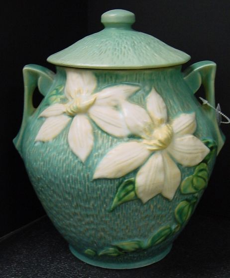 Roseville Clematis cookie jar.