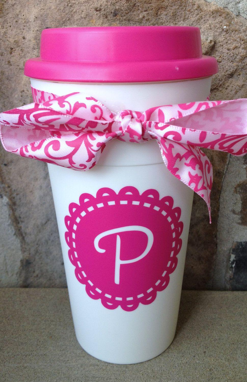 Personalized Monogram Travel Coffee Cup. $12.00, via Etsy. | cricut ...