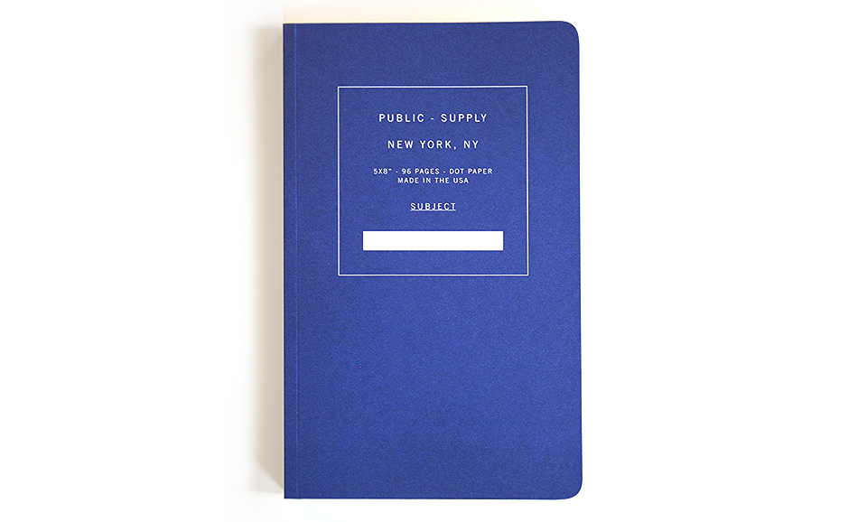 Public Supply Notebooks. Lots of colors and styles. Buy this and 25% of profits go to classroom art programs high-need NYC public schools.