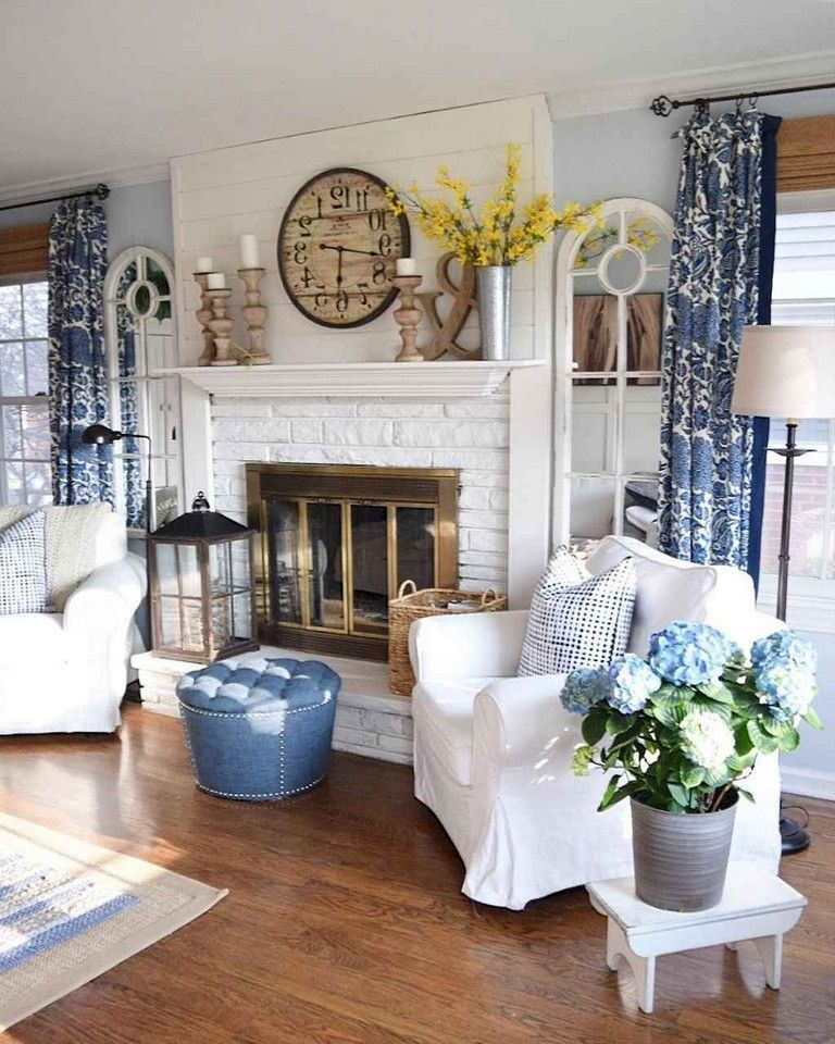 78+ LOVELY FARMHOUSE LIVING ROOM CURTAINS DECOR IDEAS # ... on Farmhouse Curtain Ideas For Living Room  id=99564