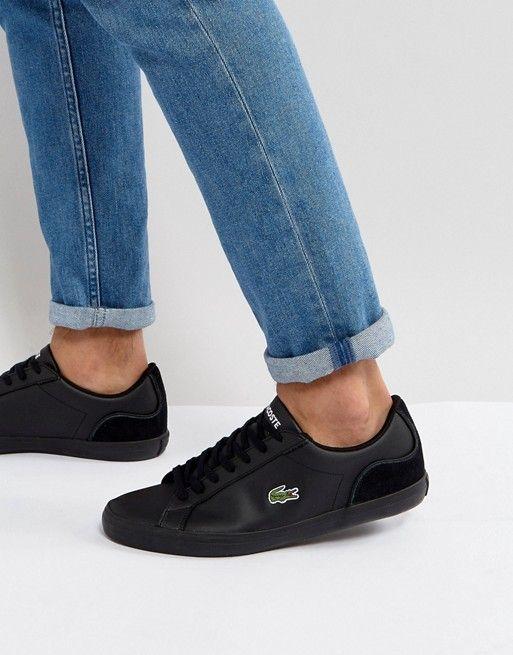 Lacoste Lerond Leather Triple Black Sneakers Sneakers Black Shoes Outfit Sneakers Men