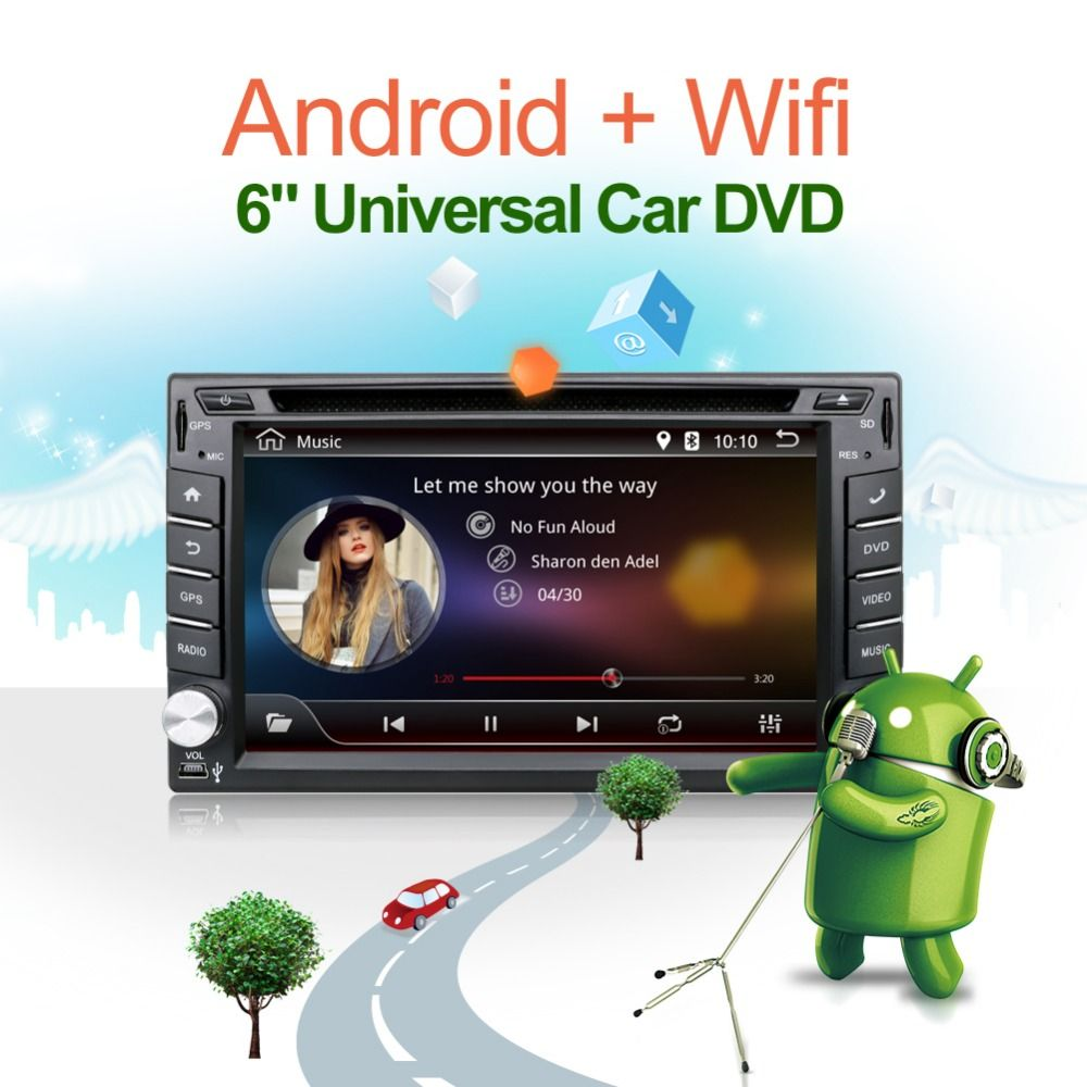 3G Quad core 2 din android 4.4 2din New universal Car Radio Double Car DVD Player GPS Navigation In dash Car PC Stereo video
