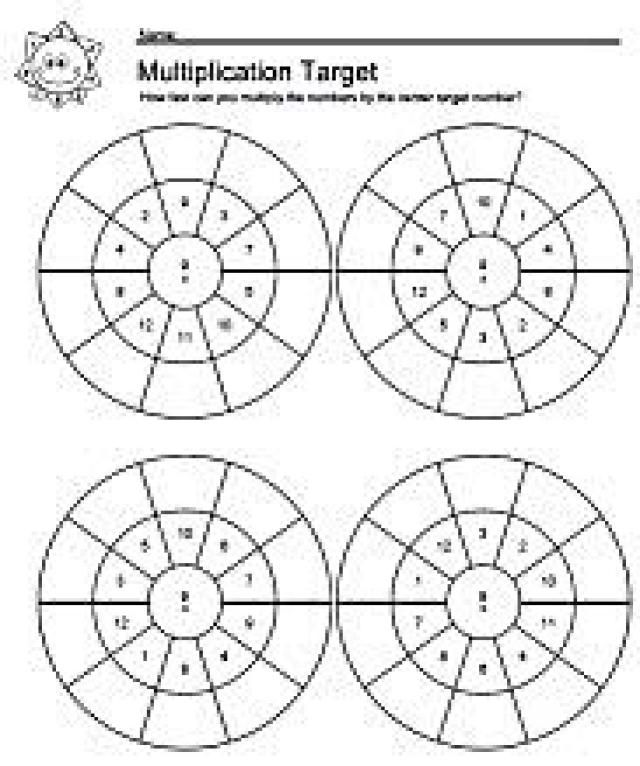 Worksheet times tables practice worksheets free : Teach Your Kids the 2 Timestables With These Fun Target Worksheets ...