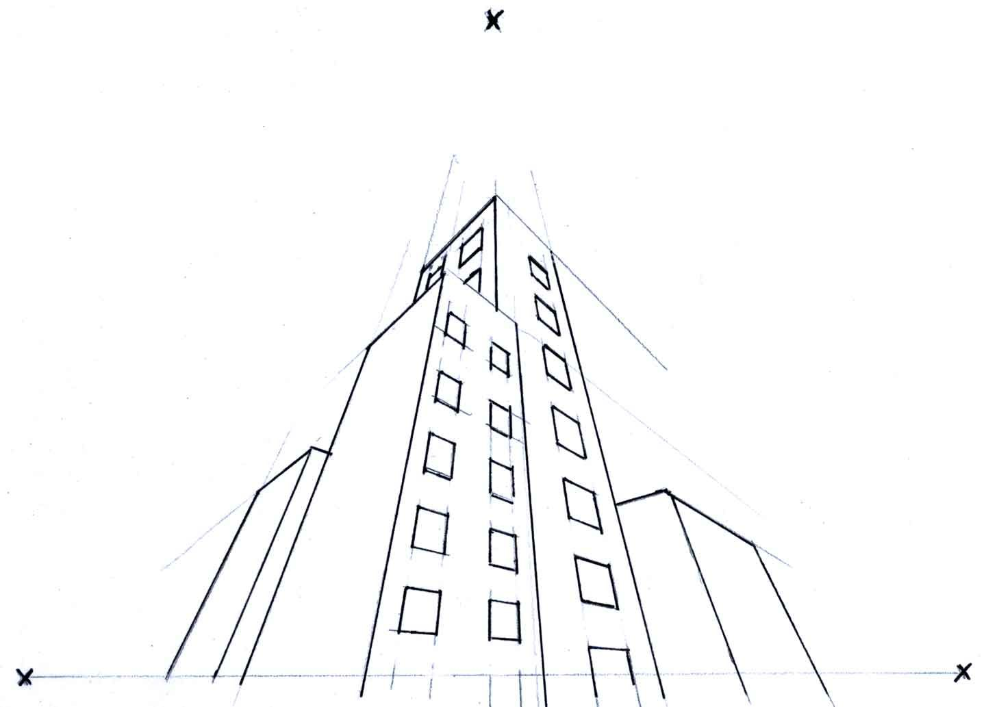 Online Perspective Drawing Lesson How To Draw Buildings