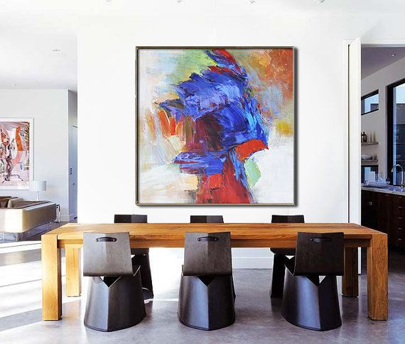 Hand Made Large Acrylic Painting On Canvas By Celineziangart