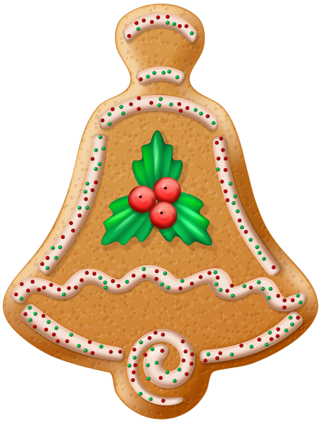 Christmas Cookie Bell Transparent Png Clip Art Image Christmas Decoupage Christmas Scrapbook Christmas Cookies