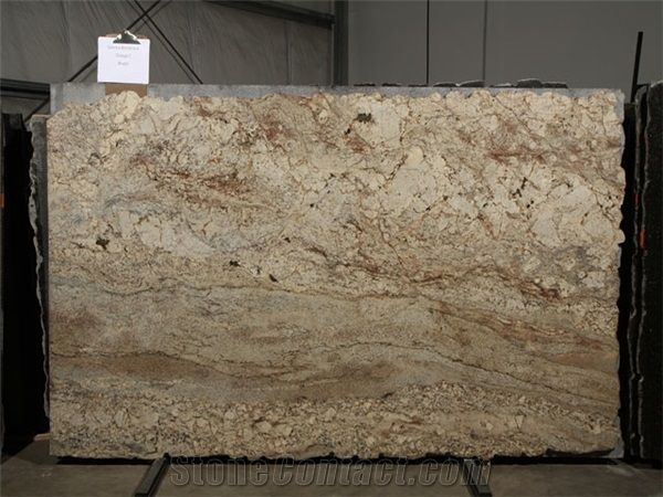 Sienna Bordeaux Granite Slab Brazil Beige From China 124904 Stonecontact