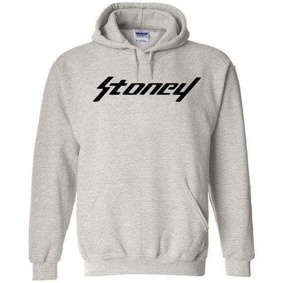 117da636dcc Post Malone Stoney Black Logo Hoodie Classic Style Hip Hop Fleece Sweatshirt  Rap b B Esskeetit Merc