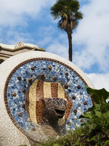 Photographic Print: Guell Park (Parc Guell), UNESCO World Heritage Site, Barcelona, Catalunya (Catalonia), Spain by Nico Tondini : 24x18in