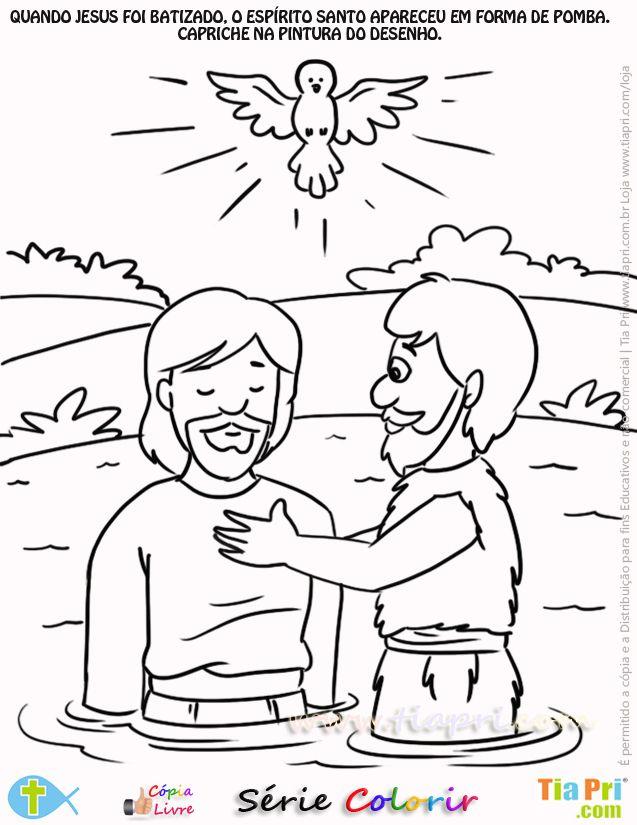 Resultado De Imagem Para Atividades Biblicas Sobre O Batismo De
