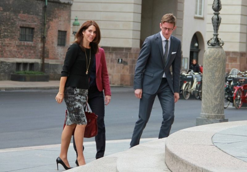 Princess Mary attends a meeting with Danish Parliament Oct. 2013