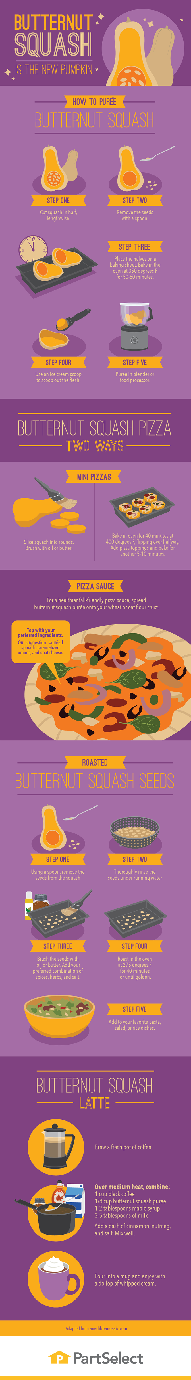 Butternut Squash Is the New Pumpkin #Infographic
