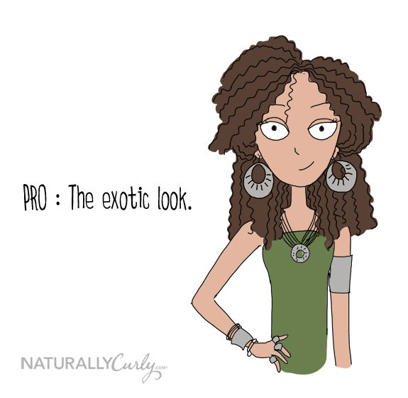 pros & cons of curly hair