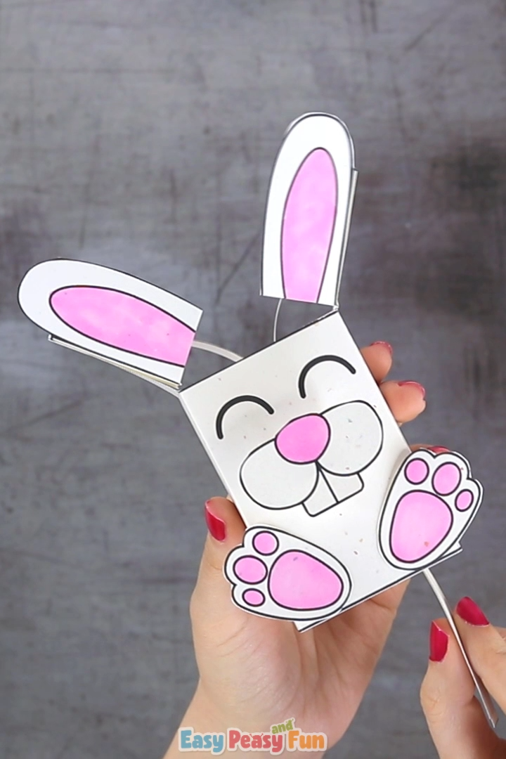 We've go another amazing Easter craft for kids ready for you – let's make a movable bunny paper toy.