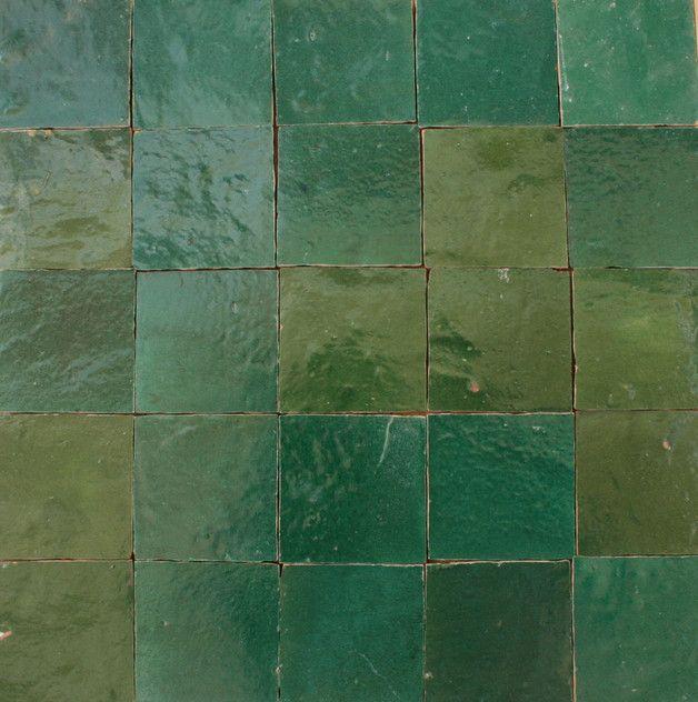 Zelliges Wandfliesen Kachel Grün Glasiert X - Zellige fliesen berlin