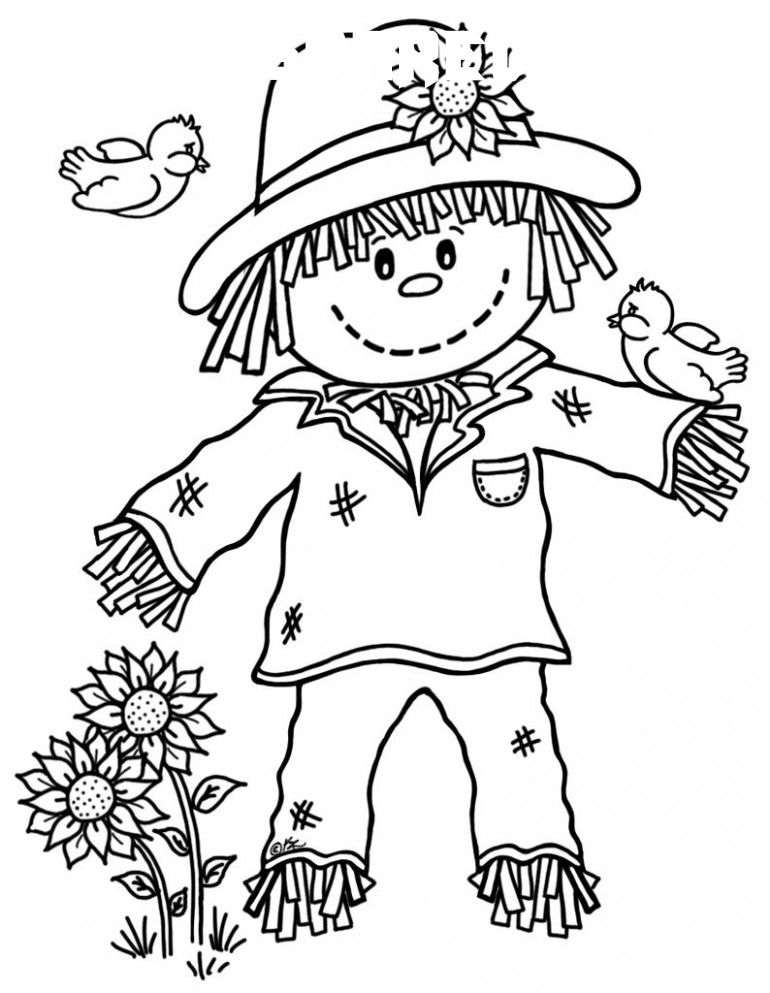 8 Cute Scarecrow Coloring Pages Scarecrow Coloring Pages Free Printable Fall Coloring Pages Halloween Coloring Pages