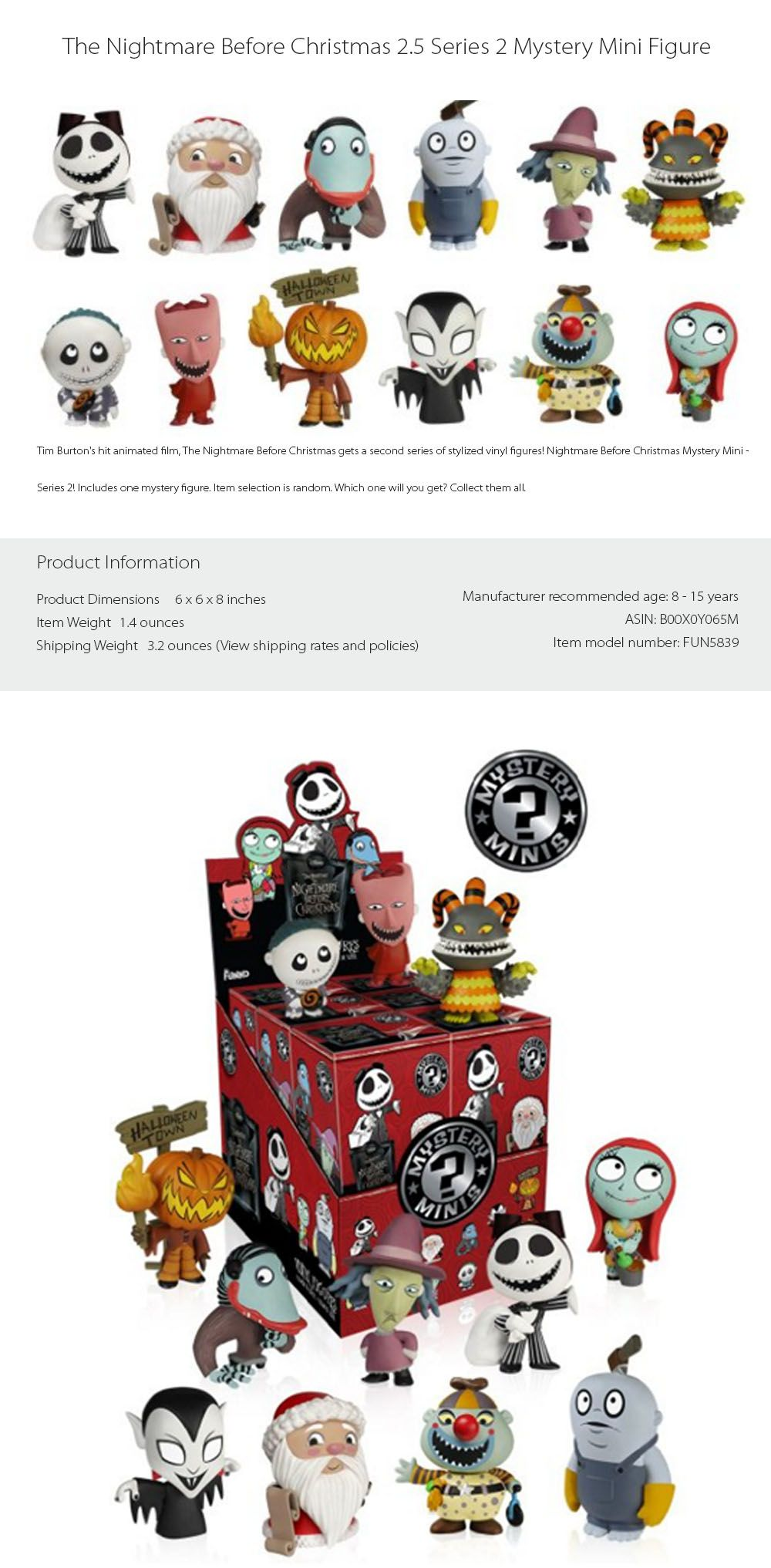 The Nightmare Before Christmas Series 2 (Case of 12   Halloween town ...
