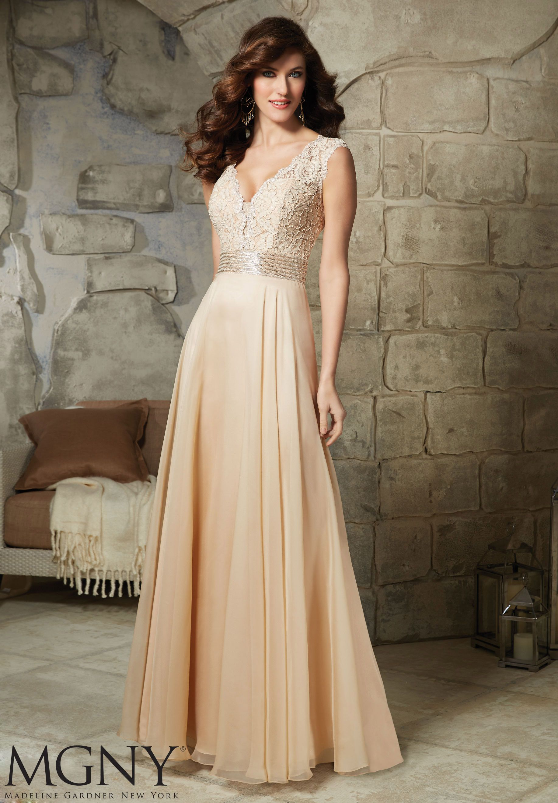 Evening gowns and mother of the bride dresses by mgny lace and