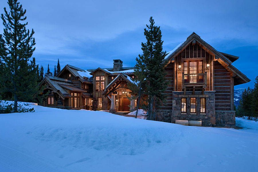Elk Ridge Lodge Exterior Log Homes Pinterest Home, House and
