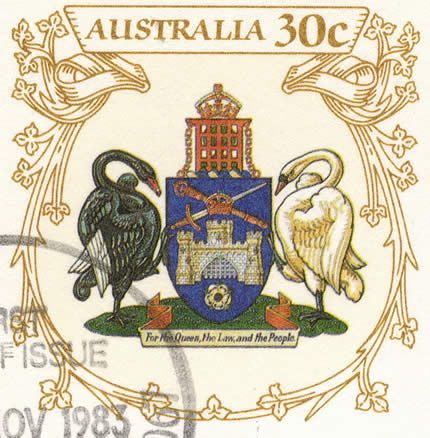 Canberra Coat Arms Stamp Arena Australian Stamps Collecting Hub Aus