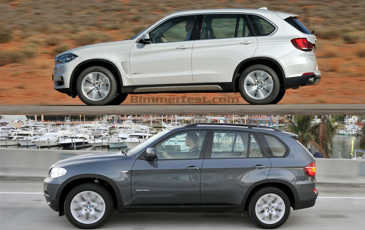 Photo Comparison 2014 Bmw X5 F15 Vs E70 X5 Bmw News At Bmw X5