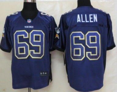6c3d6df93 Nike Minnesota Vikings  69 Jared Allen 2013 Drift Fashion Purple Elite  Jersey