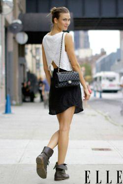 top + skirt + booties